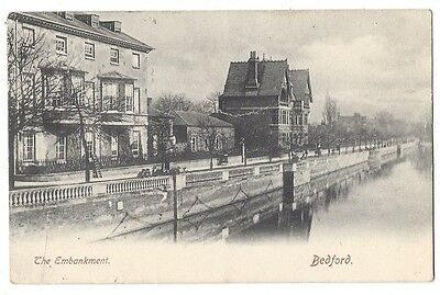 BEDFORD The Embankment, Old Postcard Postally Used 1904