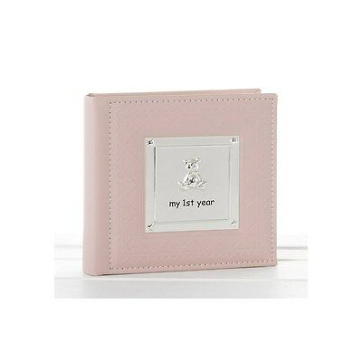 My First Year Photo Album (Pink) Gifts For Baby Girls Christening Album