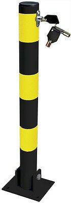 Home Shop Driveways Folding Fold Down Security Parking Post With Lock & Bolts