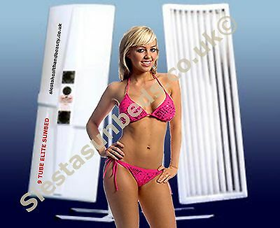 Elite 9 Tube Single Canopy Sunbed with Facial Tubes FREE delivery to READING