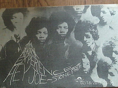 The Jimi Hendrix Experience -newspaper clipping/ advert - from melody maker 1967