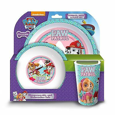 Paw Patrol 'Best Pups Pals' 3 Piece Tumbler Bowl and Plate Set