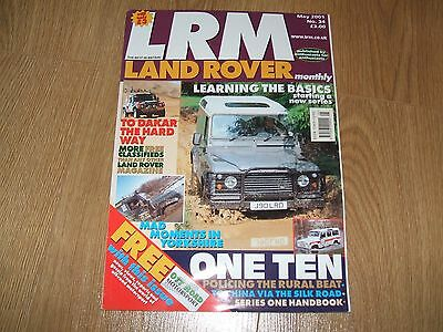 Land Rover Monthly, Lrm Magazine, May '01(Series/defender/range/disco/freelander