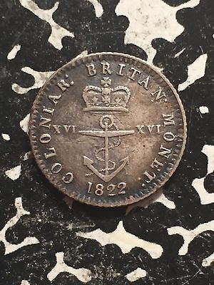 1822 British West Indies 1/16 Dollar Lot#1613 Silver! Nice!