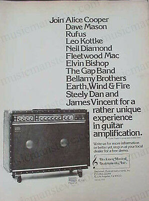 "ROLAND JC-120 AMP AD 1977  - ""Join Alice Cooper, Fleetwood Mac, Steely Dan..."""
