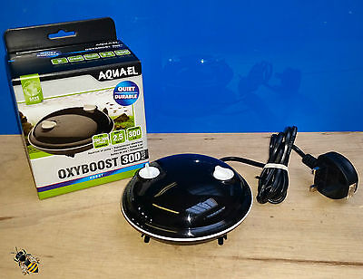 Aquarium Air Pump Aquael Oxyboost 300 plus Fish Bowl Tank Goldfish Tropical New