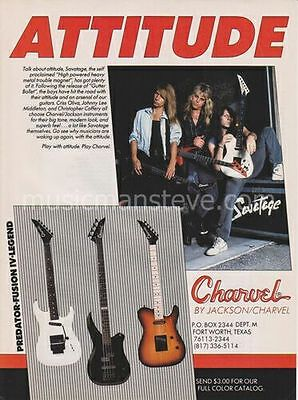 CHARVEL GUITAR AD 1990 (with SAVATAGE)