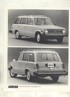 1974 Fiat 124 Station Wagon TC ORIGINAL Factory Photograph ww5918