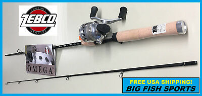 """ZEBCO 5'6"""" OMEGA Spincast Fishing Combo Rod and Reel NEW #ZO2C"""