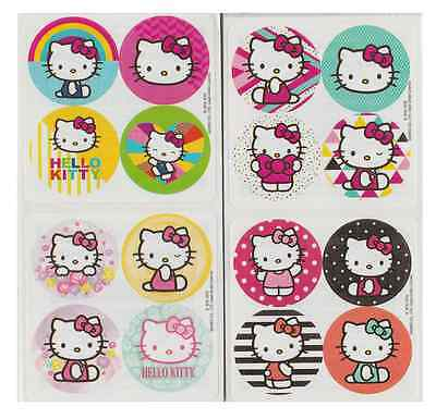 """80 Hello Kitty Mini Stickers, 1.2"""" Round Each, Party Favors"""