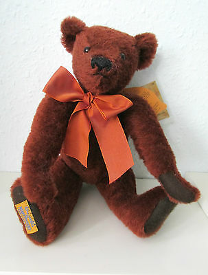 ALPHA FARNELL Teddy BEAR by MERRYTHOUGHT 'JEREMY' LTD ED Mohair RRP £135 USED