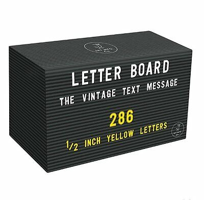 Jay YELLOW LETTERS Spare SET for PEG LETTER BOARD 286pcs