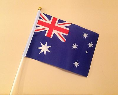AUSTRALIA HAND WAVING FLAG Small - Display Sports Aussie Australian Party flags