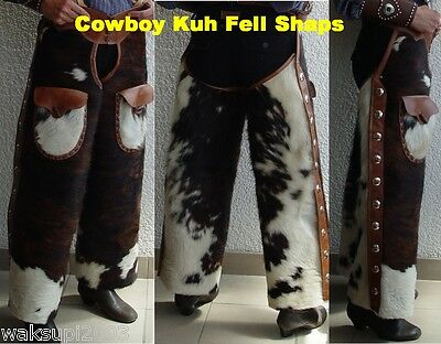 Cowboy Old Style Kuh Fell Chaps  ,  Shut Gun Chaps , Western , Reiter