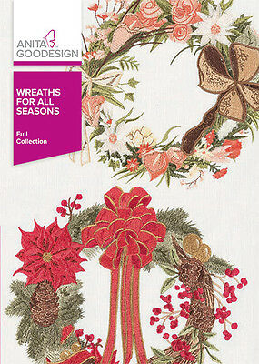 Anita Goodesign WREATHS FOR ALL SEASONS Embroidery Collection 352AGHD-NEW SEALED