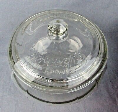 LARGE! HIRSCH'S GOODIES COUNTRY STORE ADVERTISING CANDY Cookie Pickle Glass JAR
