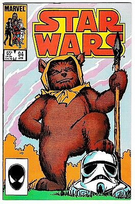 STAR WARS #94 (NM-) EWOKS! Classic Copper-Age Marvel Comic 1985 High Grade! LQQK
