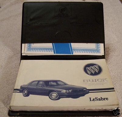 **LOOK** 1994 Buick LeSabre Owners Manual Set + Case