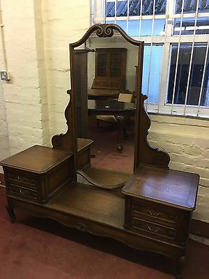 Outstanding Quality French Oak Full Length Mirror Dressing Table