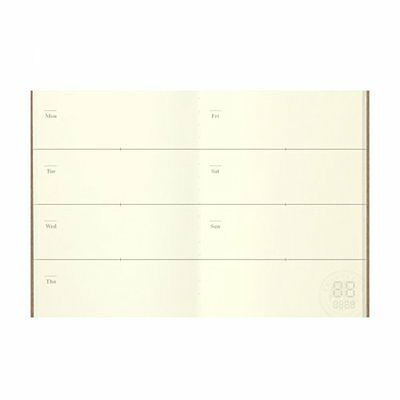 Midori Traveler's Notebook (Refill 007) Passport Size Weekly Diary
