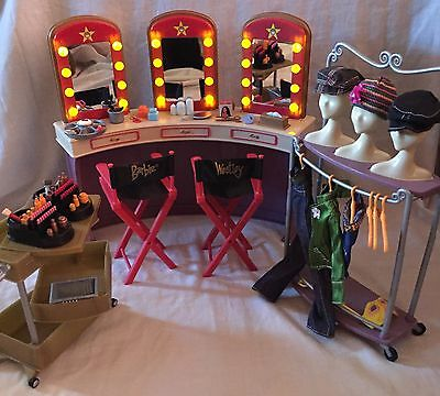 My Scene Barbie Hollywood Light-up Dressing Room Playset With Accessories Rare