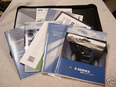 *NEW* 2007 E-Series Van Owners Manual Set With Case