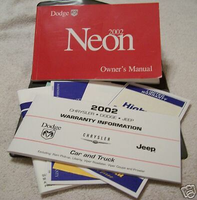 **NICE** 2002 Dodge Neon Owners Manual Set With Case 02