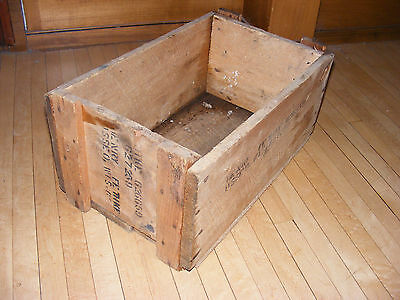 Antique Vintage Crate Wood Box Wooden