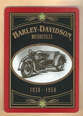 Vintage Harley-Davidson Collectible Playing Card 1948 Panhead Eight Spades Lot#1