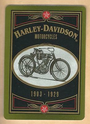 Vintage Harley-Davidson Collectible Playing Card 1916 Model 16-F Lot#1