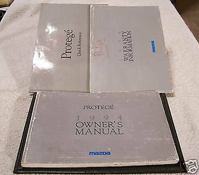 **LOOK* 1994 Mazda Proteg Owners Manual Set And Case
