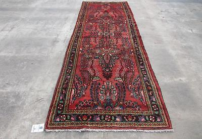 3'5X10'0 hand knotted tribal Persian Rug Vintage Woolen  Oriental Carpet  50