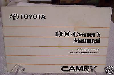 **NICE** 1996 Toyota Camry Owners Manual 96