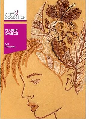 Anita Goodesign CLASSIC CAMEOS Full Embroidery Collection 374AGHD - NEW SEALED
