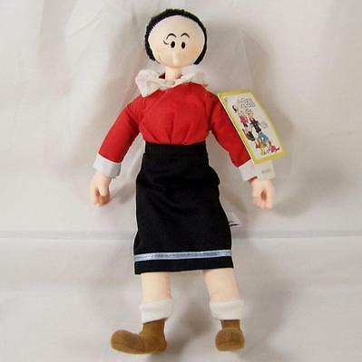 "Olive Oyl Plush Popeye Doll 1985 Vtg w/Tags Presents P4201 11"" Vinyl Head Hair"