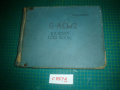 G-AEWZ DH.90 DRAGONFLY JOURNEY LOG BOOK 1948-58 Vintage aircraft C857A de Havill