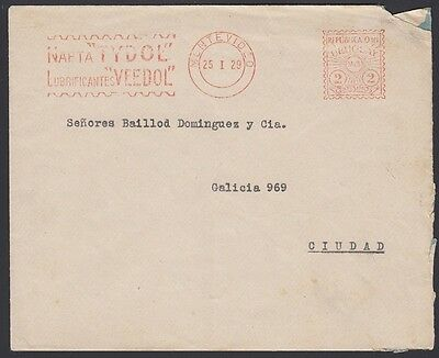 URUGUAY, 1929. Cover Early Meter 2c, Montevideo
