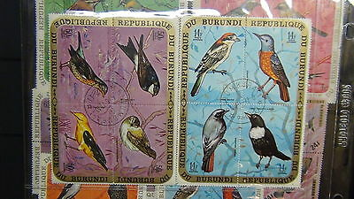 Burundi  stamp collection on stock sheets , glassines, cards,etc.