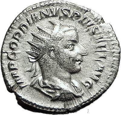 GORDIAN III 240AD Rome Authentic Genuine Ancient Silver Roman Coin SOL i59066