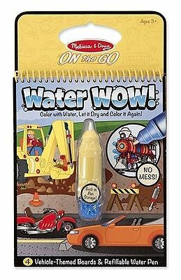 Melissa & Doug Child Vehicle Water Wow Pad Reveal Activity Book Ages 3+ New