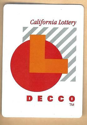 Vintage Decco California Lottery Collectible Advertising Playing Card Lot#3