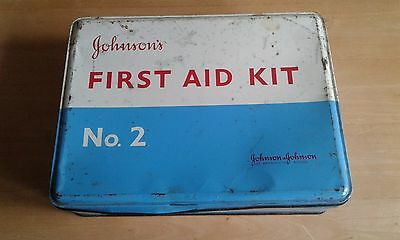 Vintage Johnsons first aid kit No 2 and contents
