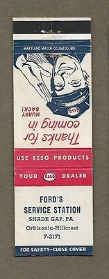 Ford`s Service Station Shade Gap Pa Matchcover A373