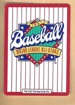 Vintage 1991 Baseball All-Stars Collectible Advertising Playing Card Lot#4