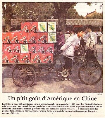 Coca Cola Delivery in China from a French Montreal Newspaper in 2000