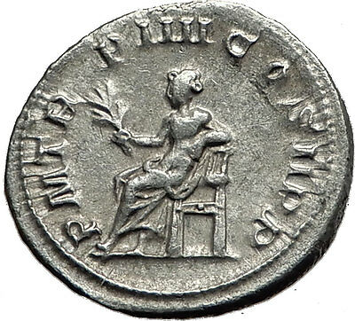 GORDIAN III 241AD Rome Authentic Genuine Ancient Silver Roman Coin APOLLO i59076