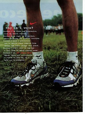 "1997 Nike ""Air Terra Fire"" Why Am I Worn? Vintage Shoe Print Advertisement"