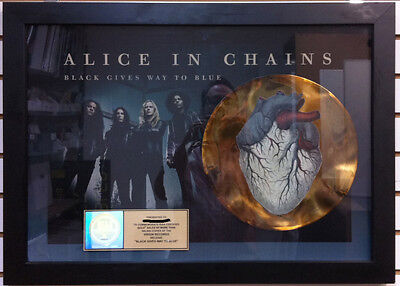 ALICE IN CHAINS Black Gives Way To Blue 2009 RIAA Gold LP Award Plaque