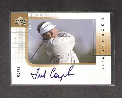 Fred Couples 2001 Upper Deck Gold Players Ink #03/25 !!!!!!!!!!!!