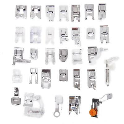 32 Quality Domestic Sewing Machine Presser Foot for Brother Singer Juki Elna